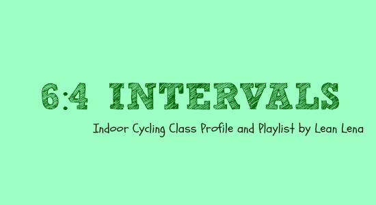 64 Intervals Indoor Cycling Class Profile Lean Lena